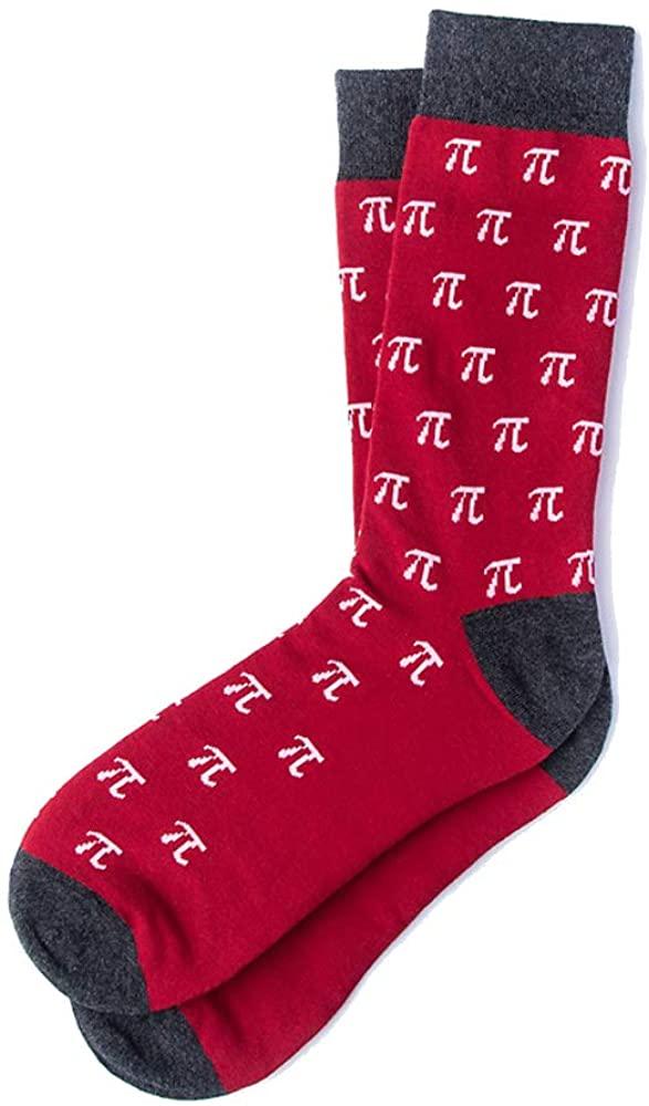 Men's Pi Symbol Mathematics Math 3.14 Novelty Pi Day Crew Dress Socks