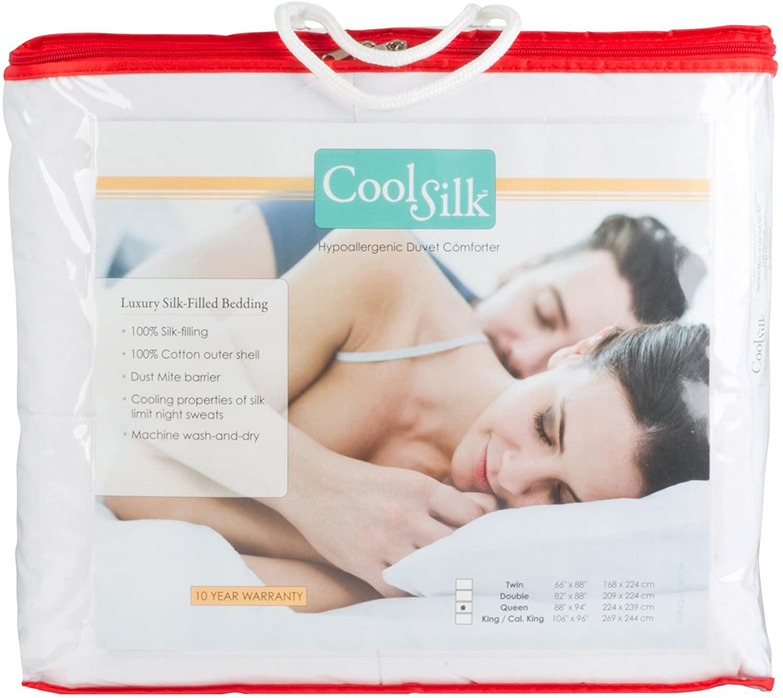 Bed Care Cool Silk Dust Mite Proof Duvet Comforter (106x96)