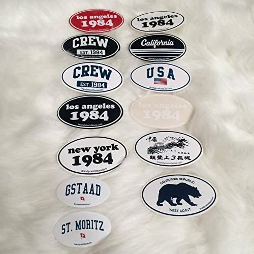 NEW Brandy Melville Sticker set of 13 ovals rare new collection collector