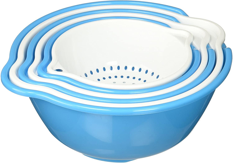 Kole Strainer and Drip Bowl Set Kitchen Essentials, Regular, Transparent