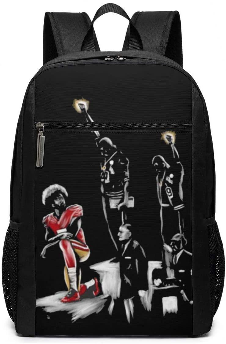Colin Kaepernick & The 1968 Olympics - Black Lives Matter - Black History Backpack 17 Inch
