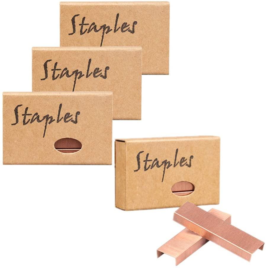 4 Pack Rose Gold Staples Standard Stapler Refill 26/6 Size 3800 Staples (4 Pack)