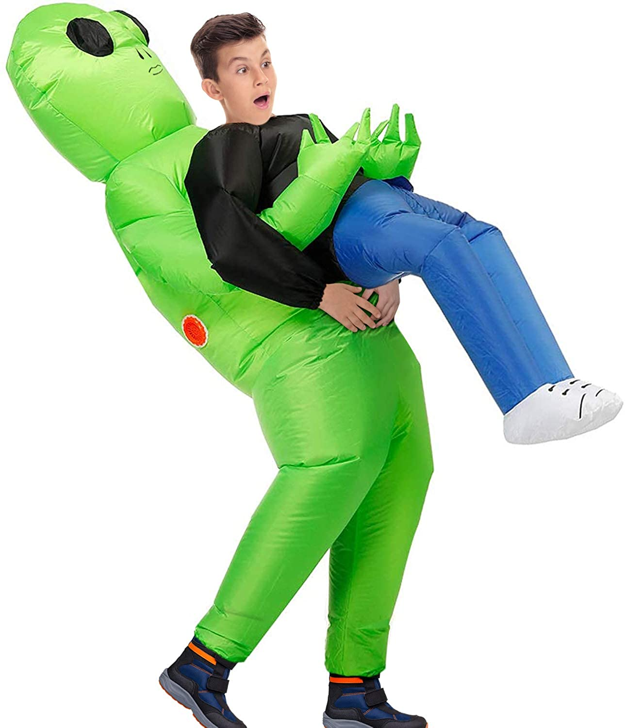 MH Zone Inflatable Alien Costume for Kids Funny Halloween Costumes Cosplay Fantasy Costume (Child Alien)