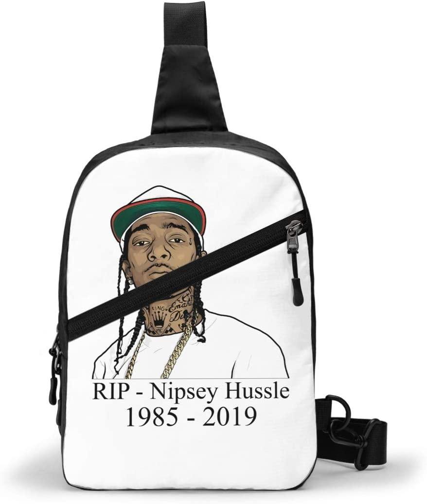 Nsafinhwv Nipsey+Hussle Sling Bags Men Shoulder Backpack Small Cross Body Chest Sling Backpack