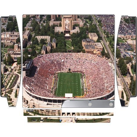 College Football Stadiums Vinyl Decal Sticker Skin by Compass Litho for Playstation 3 & PS3 Slim