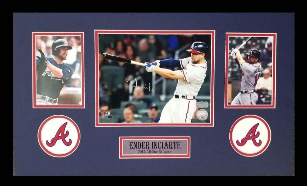 Ender Inciarte Autographed/Signed Atlanta Braves Framed 8x10 MLB Photo