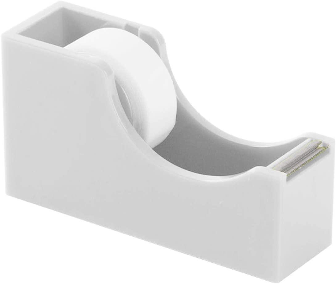Enyuwlcm Classic Desktop Tape Dispenser Tape Dispenser with Non-Skid Base Suitable for 1 Inch Core Tapes White