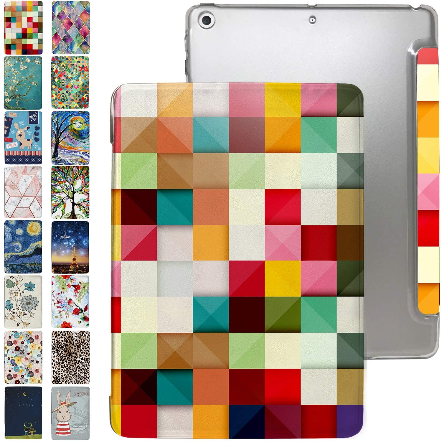 iPad 7.9 Case Mini 3rd / 2nd / 1st Generation with Slim Fit Dual-Angel Stand & Hard PC Clear Back [Protective Smart Cover] for 7.9