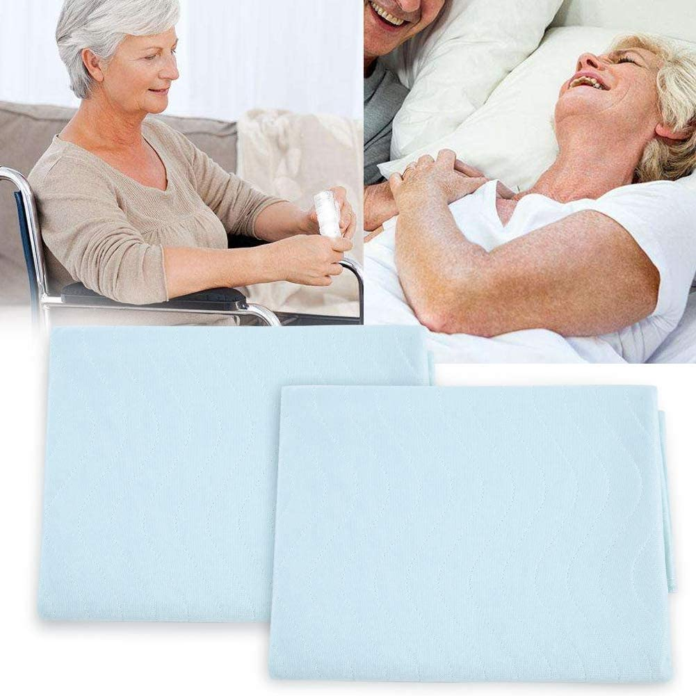 BTIHCEUOT 2pcs Washable Incontinence Bed Pad,Waterproof Washable Incontinence Bed pad for Adults, Kids and Pets