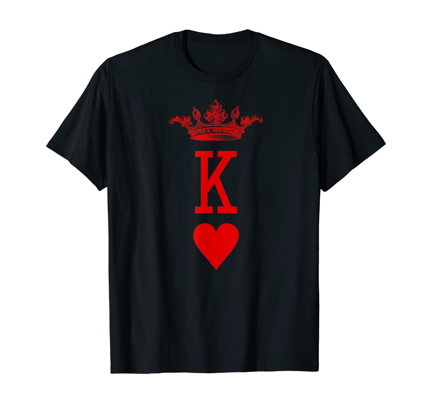 King of Hearts Vintage Crown Engraving Card T-Shirt T-Shirt