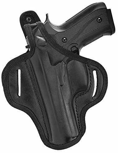 Akar Glock 17,19, Springfield XD40 & Similar Frames OWB Right Hand Thumb Break Leather Belt Holster
