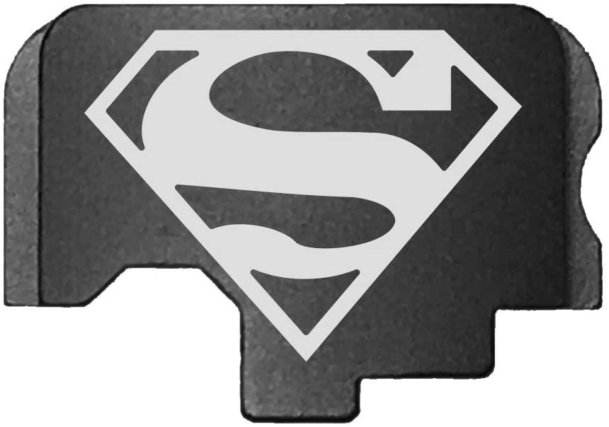 BASTION Laser Engraved Rear Cover Slide Back Plate for KAHR cm/CT/CW/P/PM/TP - Superman