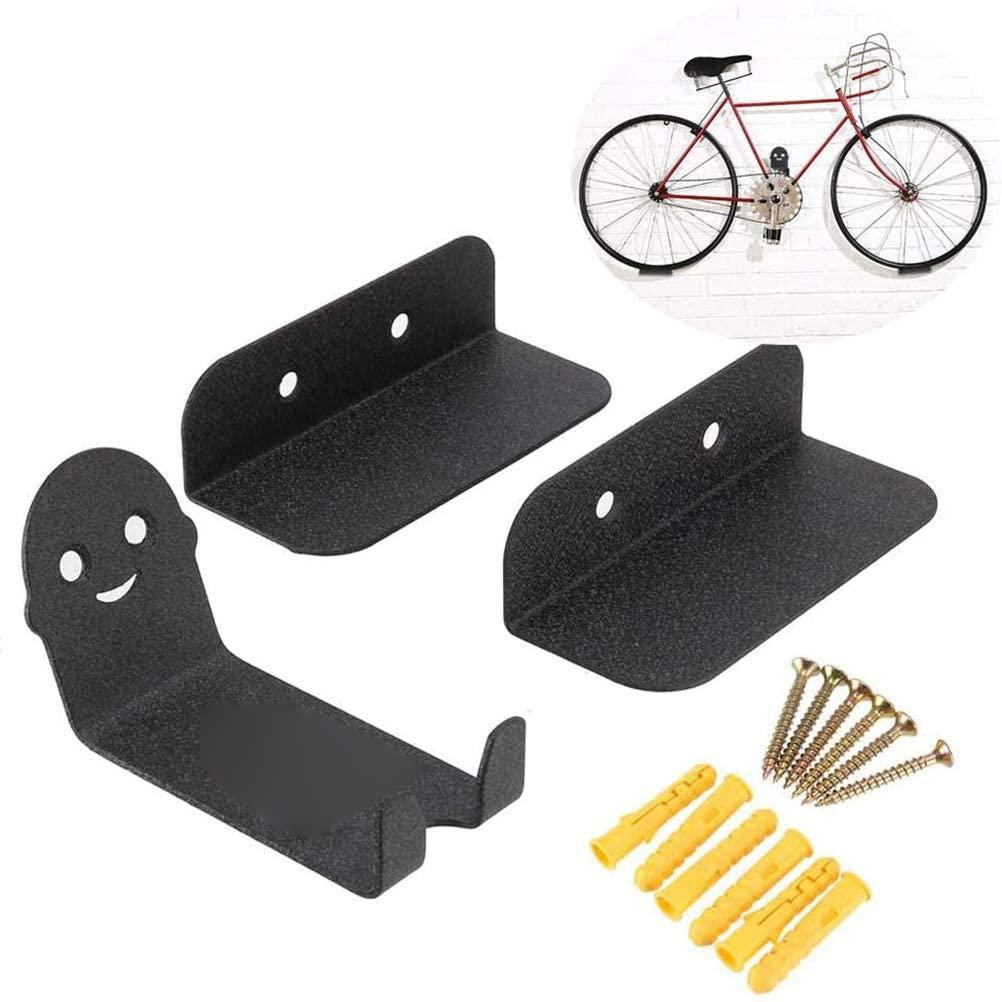 J-ouuo Bike Pedal Hook Bike Rack Garage Wall Mount Bike Hanger Storage Horizontal System for Indoor Shed