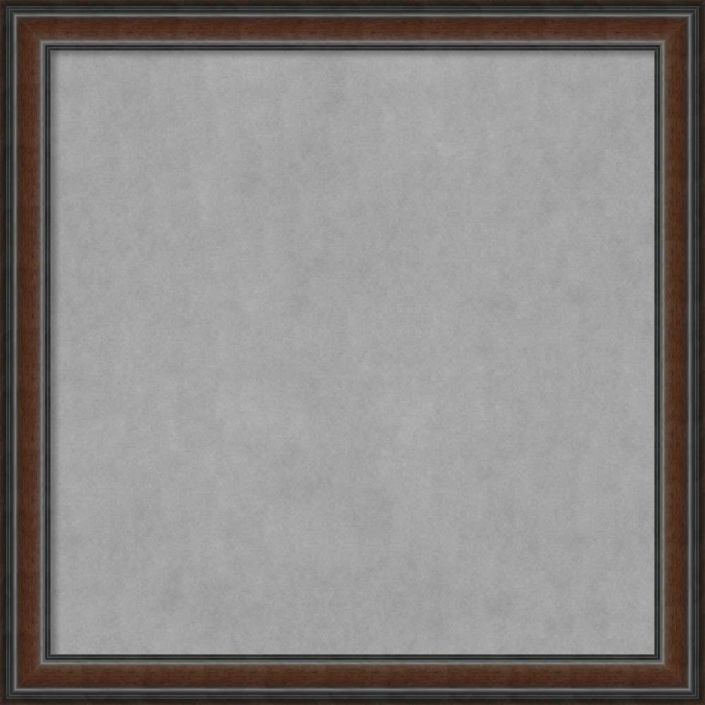Framed Magnetic Board Bulletin Board   Magnet Board Cyprus Walnut Frame  Framed Magnetic Boards   36.88 x 36.88