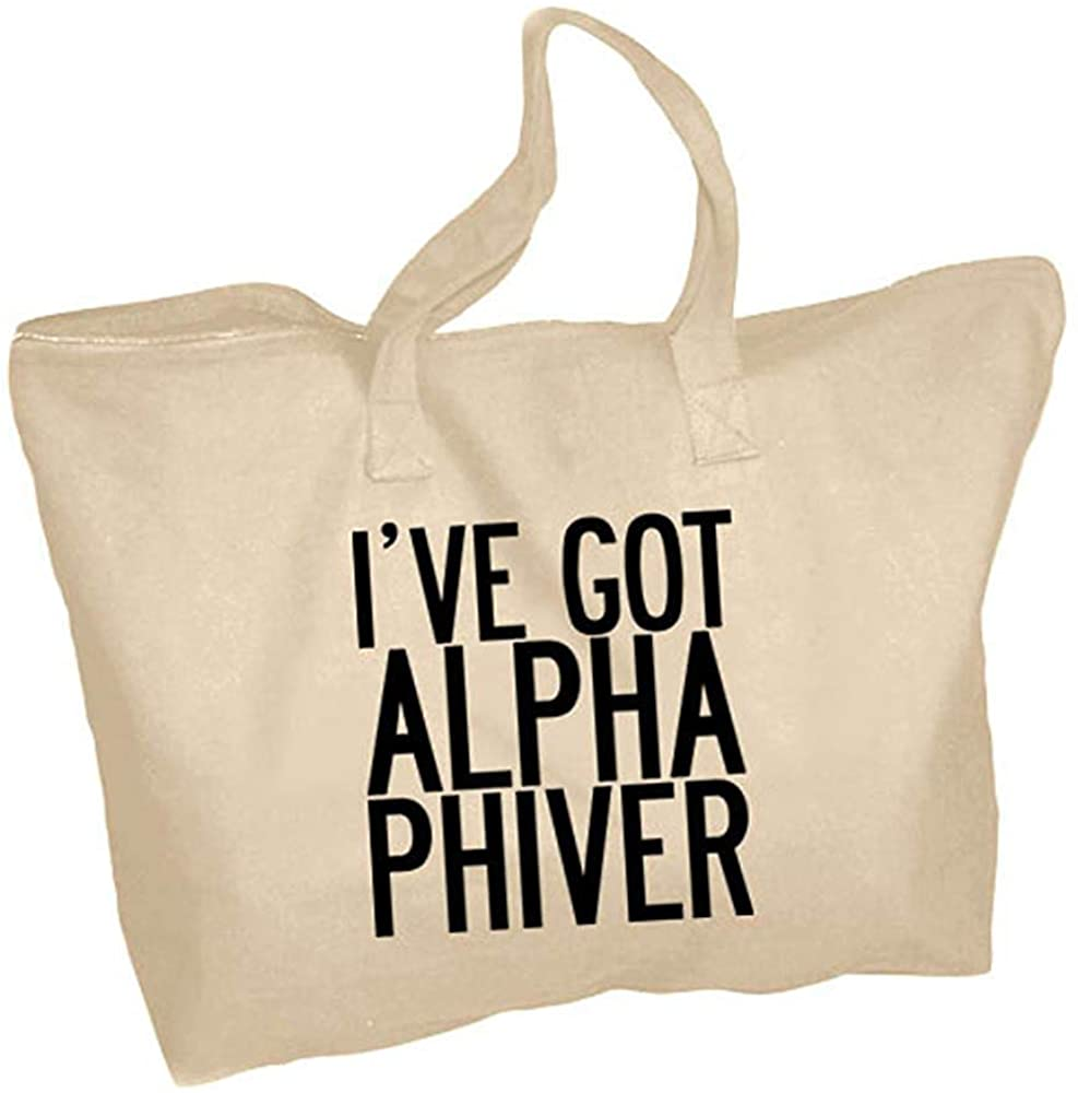 Alpha Phiver Zippered Tote Bag