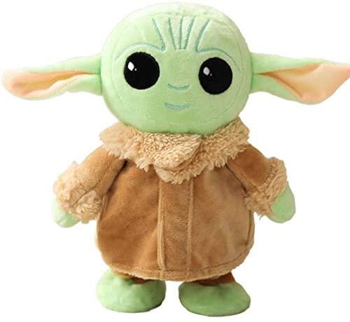 Zenny 10 Inch Cute Plush Toy The Mandalorian Baby Yoda Stuffed Doll Child Baby Plush Figure Stuffed Doll,Music,Talk and Walk