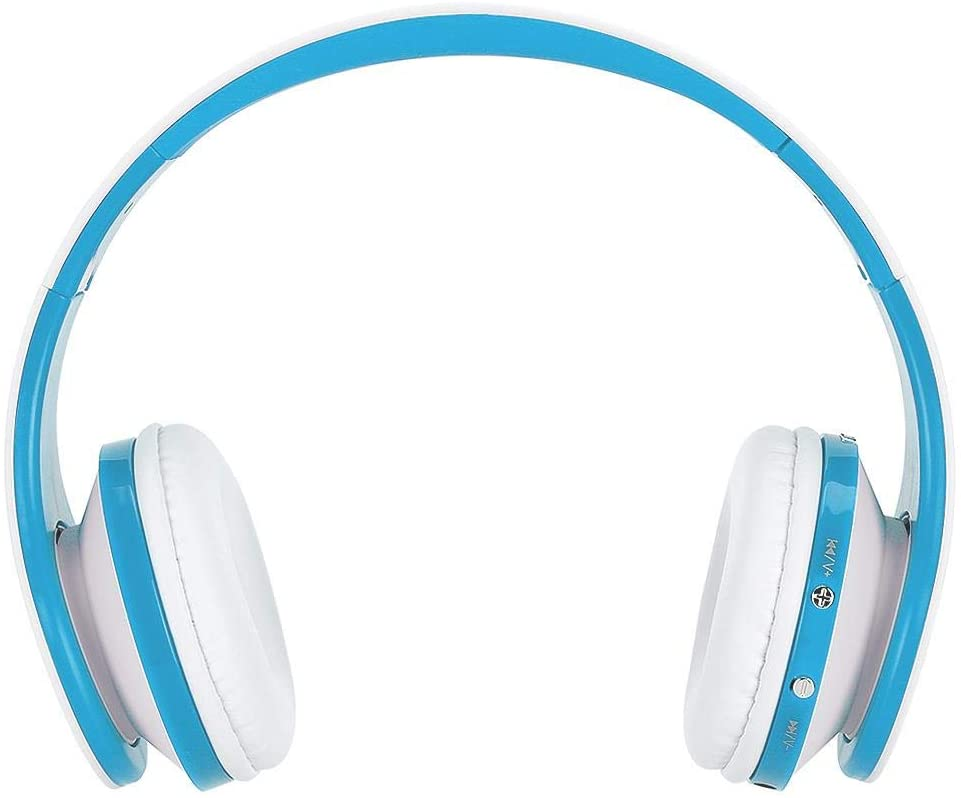 sjlerst Wireless Bluetooth Earphone, Portable Foldable Headset, Adjustable for Phone Built-in Mic(White Blue)