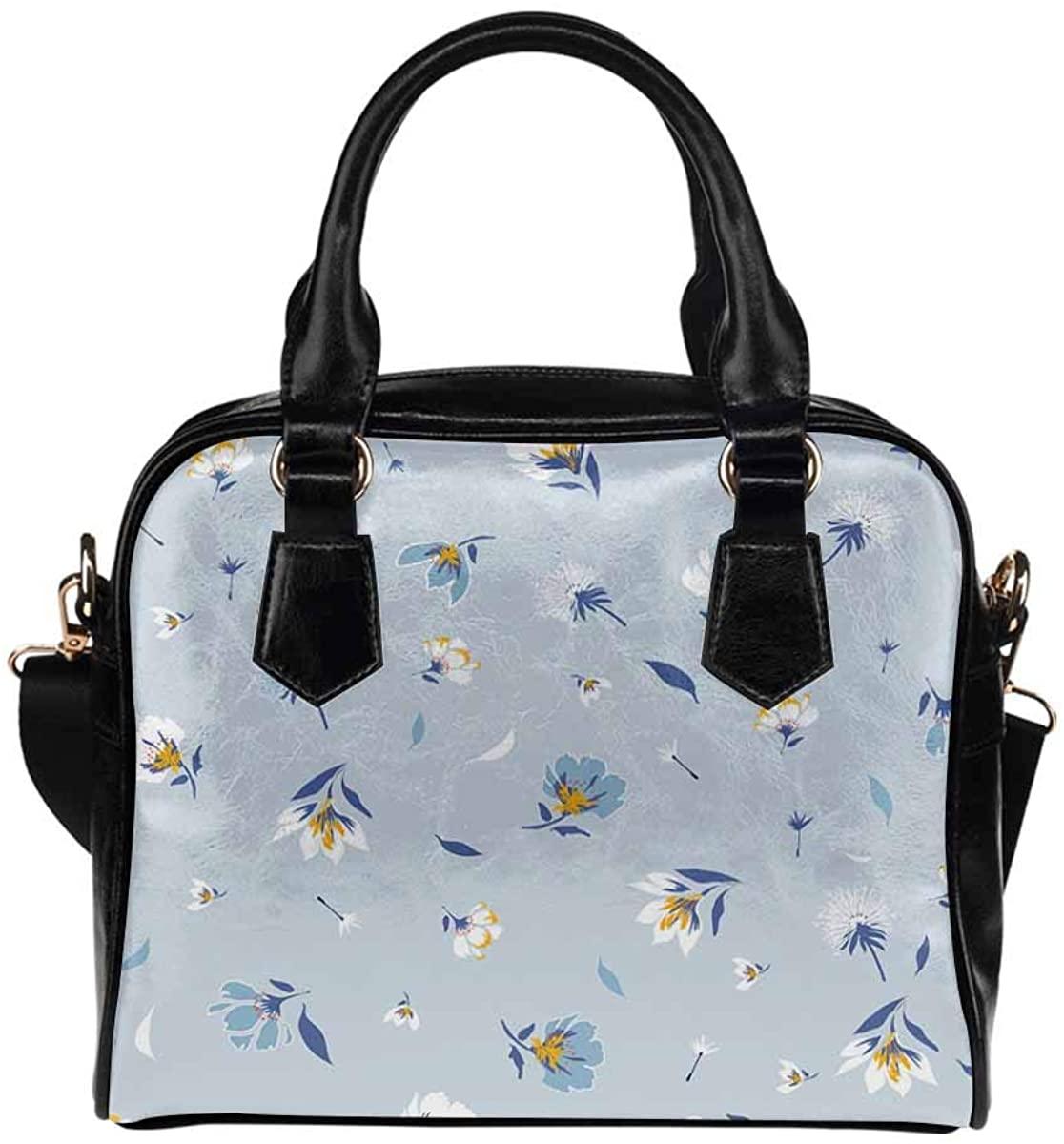 INTERESTPRINT Blooming Botanical Motifs Crossbody Purse Bags for Women Shoulder Bag