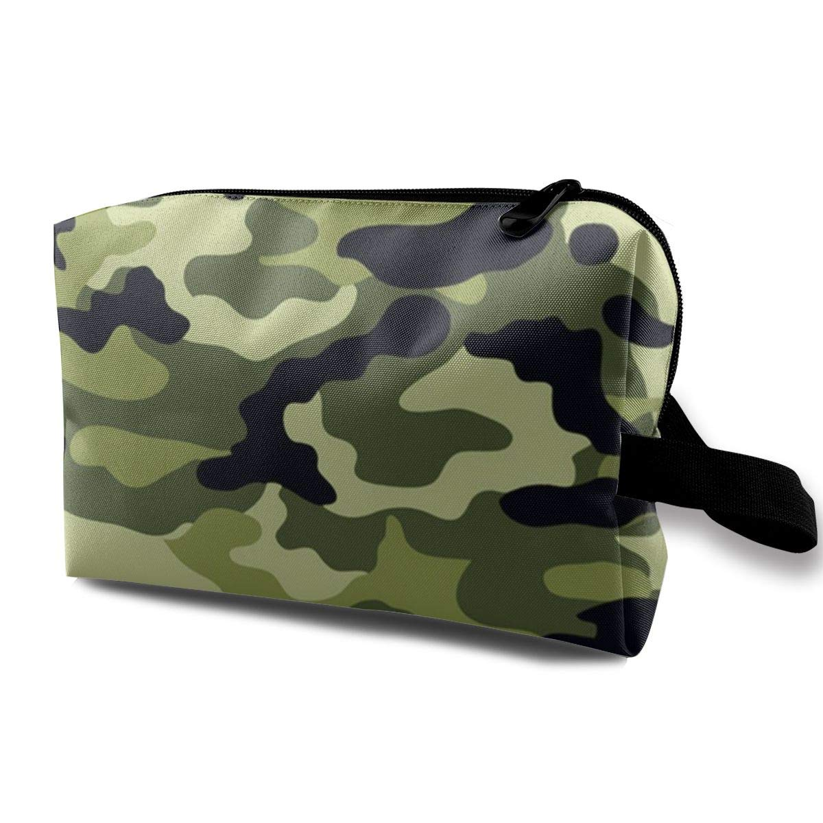 Camo Green Cosmetic Bag Makeup Bags For Women,Travel Makeup Bags Roomy Toiletry Bag Accessories Organizer With Zipper