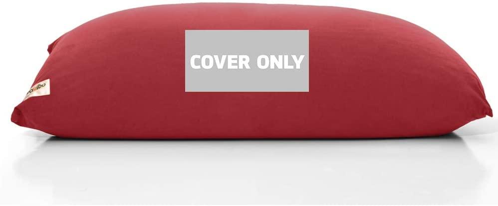 Yogibo Midi Bean Bag Replacement Cover, Removable, Washable, Burgundy