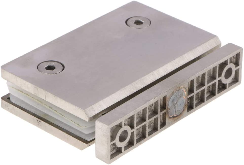 homozy Stainless Steel Shower Glass Door Hinge 3600 Degree Wall to Glass (Single Pack) - 1