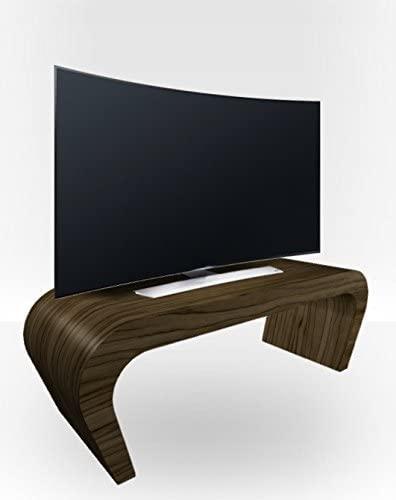 Zespoke Tv Stand Wedge - Light Zebrano Gloss