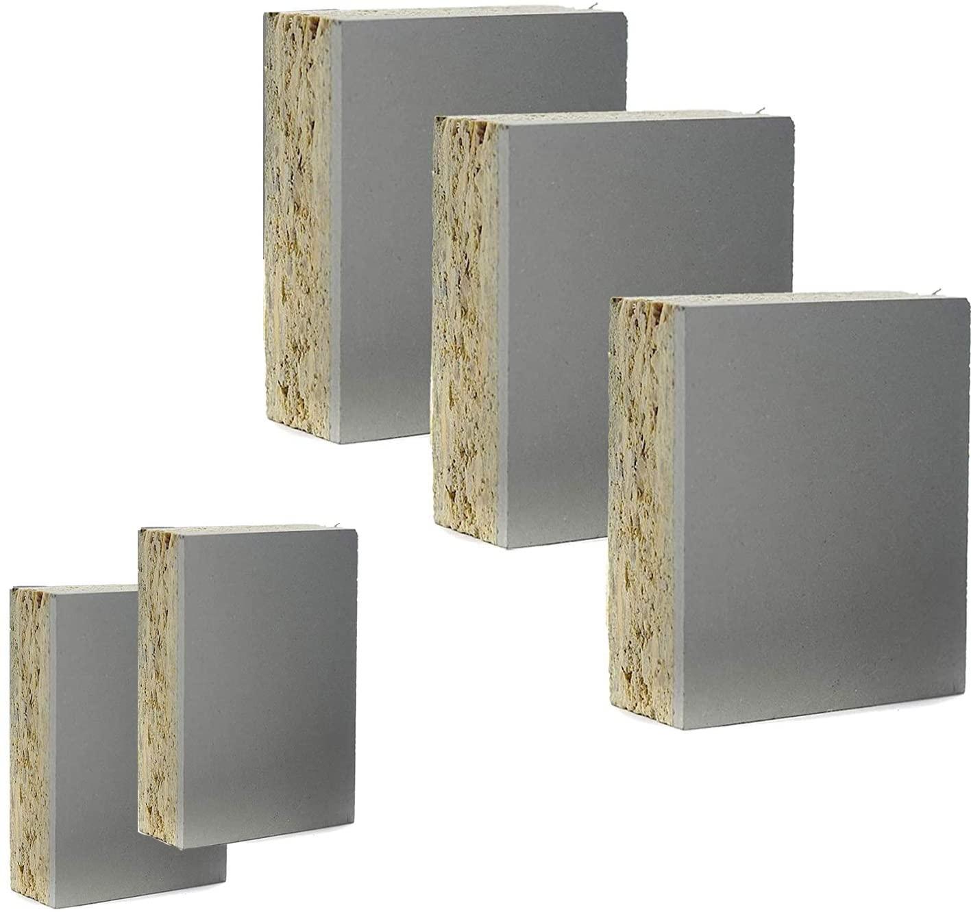Gray Block Mounted Carve Linoleum Studio Print Plate Cut Carving Plates 5-Pack Project Artist Printmaking Art Set Small Size