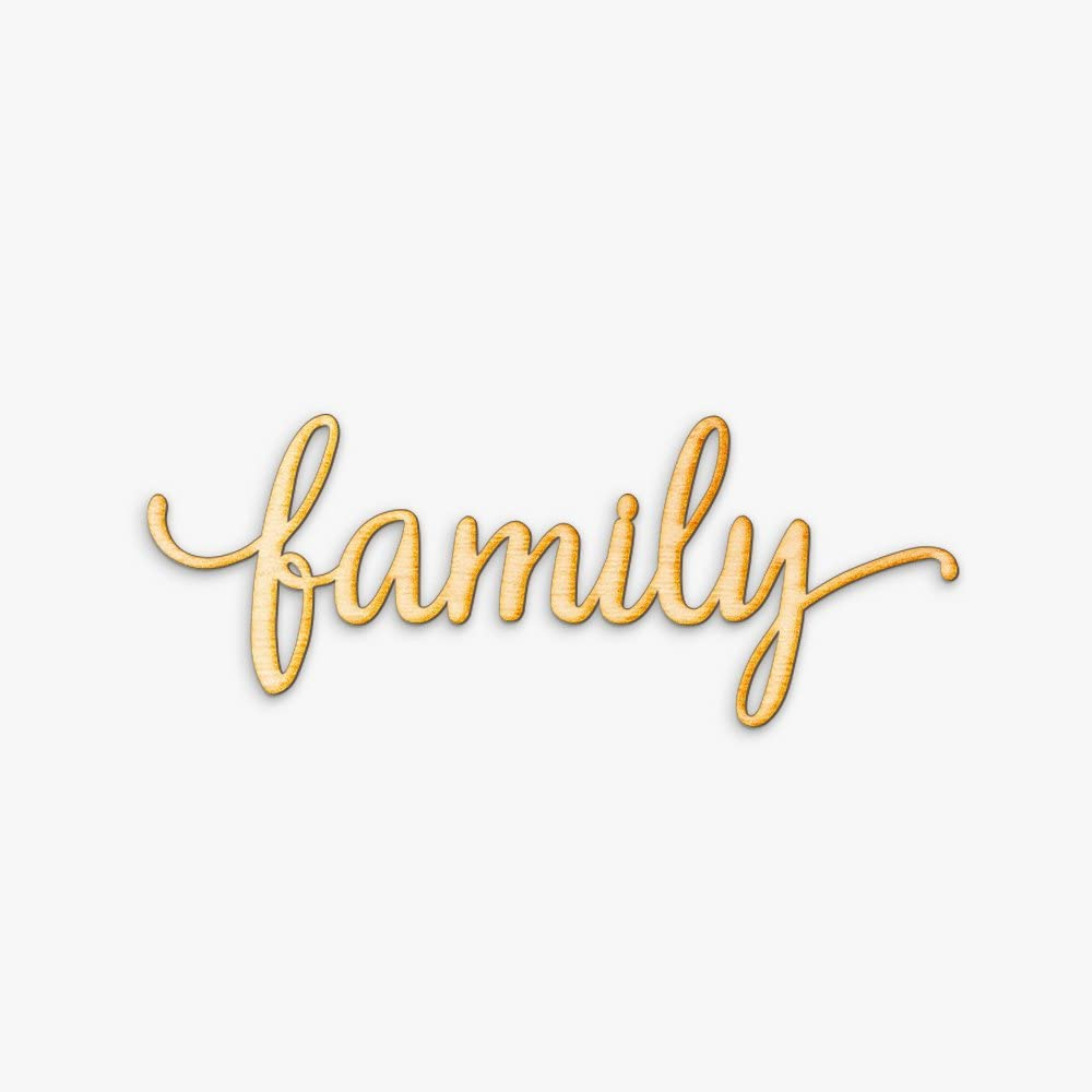Family Wood Sign Home Décor Rustic Wall Art Unfinished 24 x 9