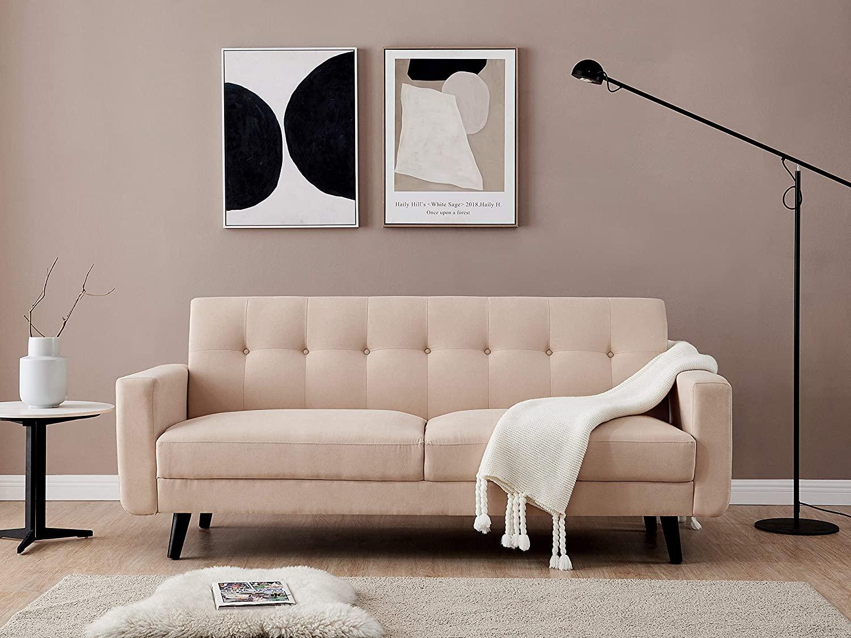 Lifestyle Mid-Century Modern Polyester Fabric Sofa Loveseat 79