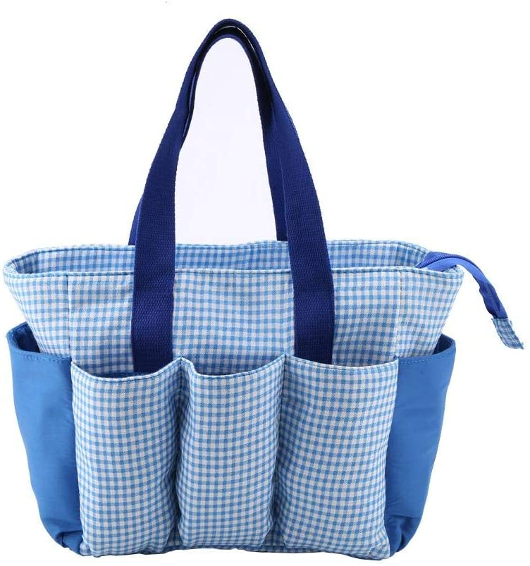 Quality Blue Color Knitting Bag Storage for Wool Yarn Crochet Needles Accessory
