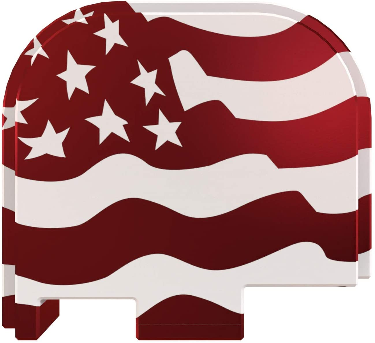Rowe Tactical Glock Rear Slide Cover Plate - Red American Flag Full Width - for Glock 43-43x-48