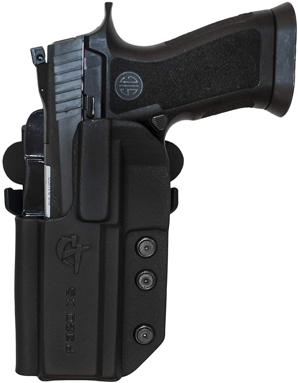 COMP-TAC.COM International Holster Sig - P320 Series (fits P320 Full Size, X-Five Full Size and Legion) - Left - Black (Belt, Paddle, Drop Offset)