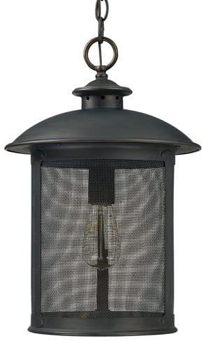 251 First Uptown Old Bronze One-Light Outdoor Hanging Lantern