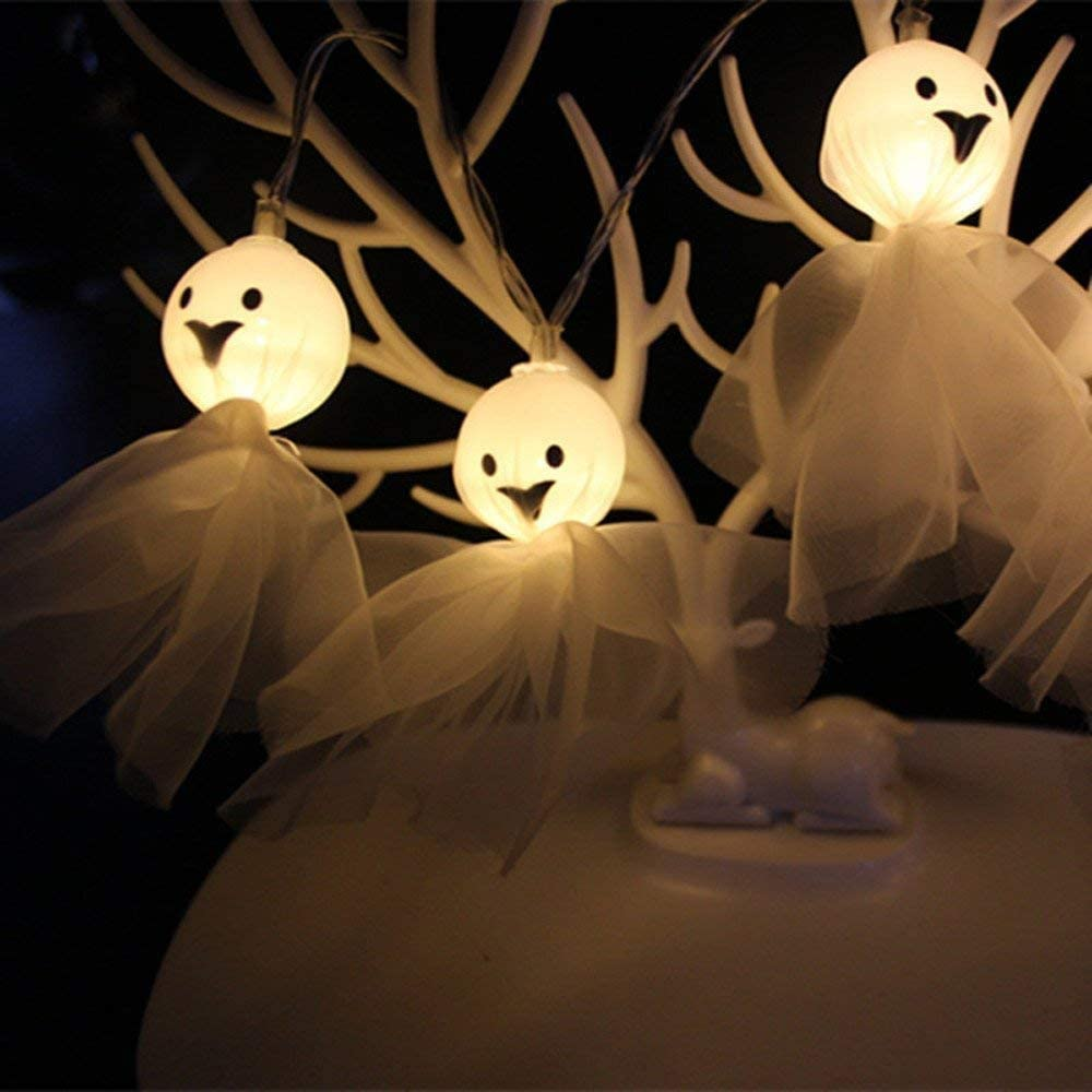 MHUI Halloween Pumpkin String Lights, Christmas Decoration Fairy Light Hanging Indoor/Outdoor Home,30 Lights