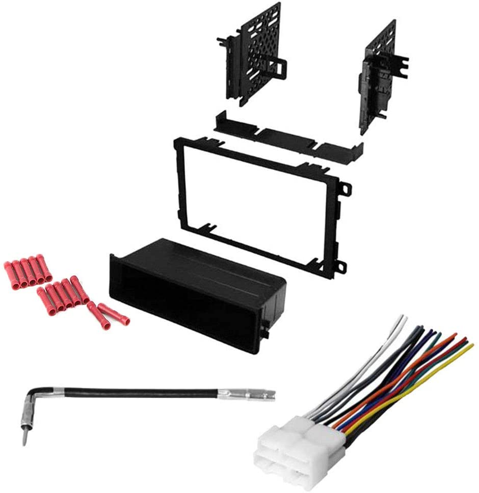 CACHÉ KIT890 Bundle with Car Stereo Installation Kit for 1991 – 1992 Cadillac Brougham – in Dash Mounting Kit, Harness, Antenna for Single or Double Din Radio Receivers (4 Item)