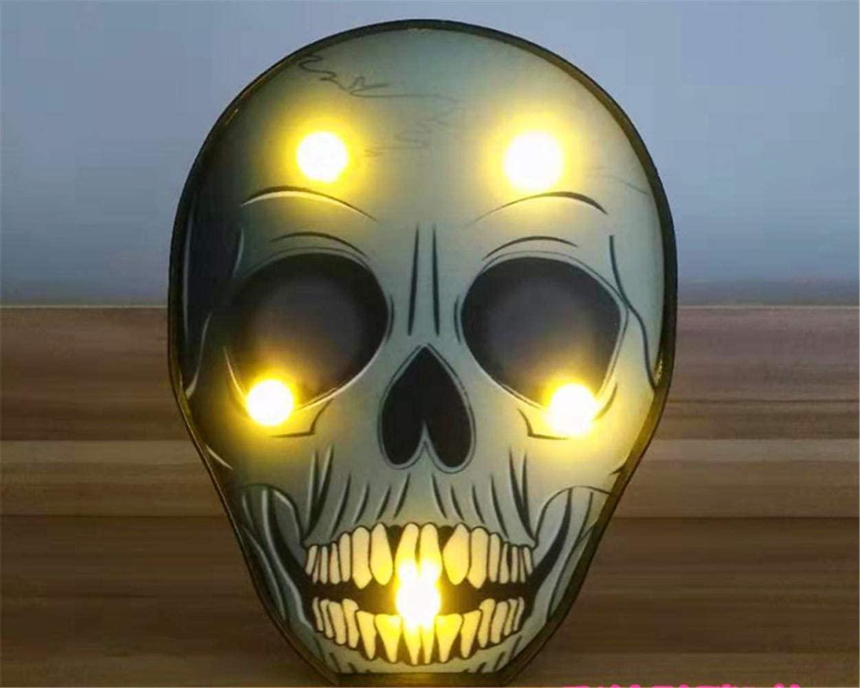 Ulalaza Halloween LED Night Lights Battery Operated Jack-O-Lantern Pumpkin Bat Spider Skull for Children Halloween House Party Decoration