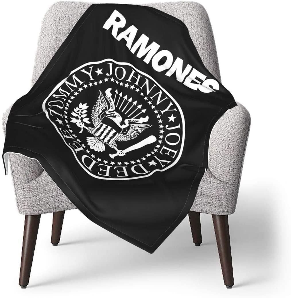 DonaldKAlford Ramones Logo Flannel Blanket Or Fluffy Blanket for Baby,Super Soft Warm Blanket for Infant Or Newborn,Receiving Blanket for Crib,Winter Blanket,Stroller
