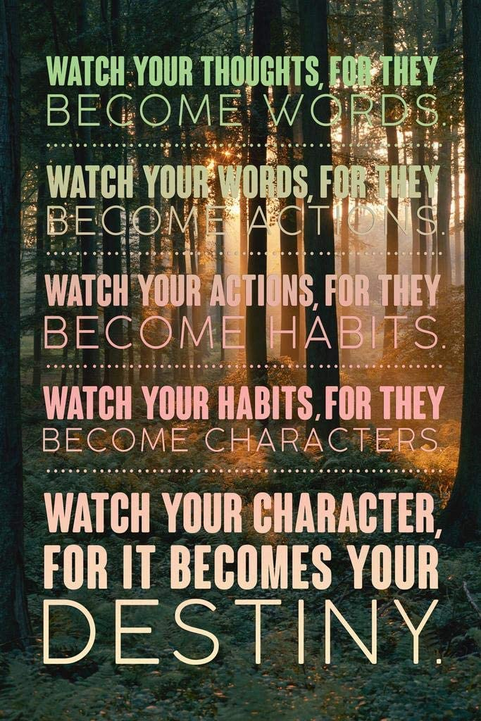 Watch Your Thoughts Forest Motivational Cool Huge Large Giant Poster Art 36x54