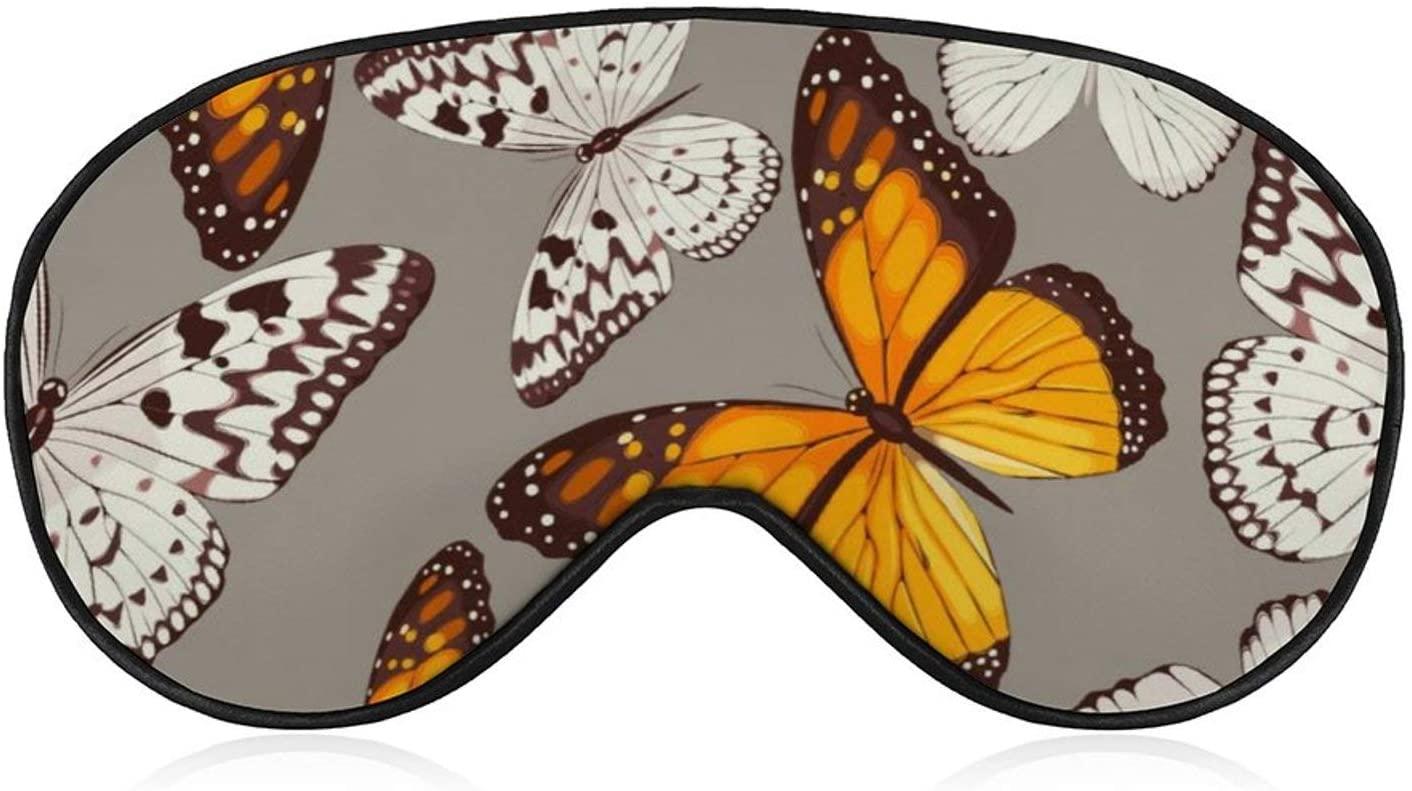 Night Cover Eye Sleeping Colorful Butterflies Sleep Mask 100% Blackout Weighted Sleep