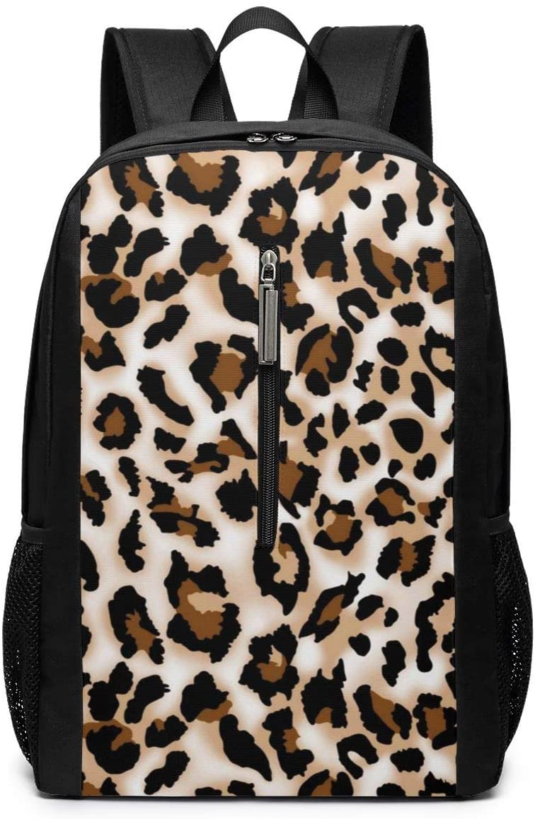 Leopard Prints College Backpack for Student,Schoolbag Backpacks for Teen Girls,Laptop Backpacks with Laptop Compartment Sleeve