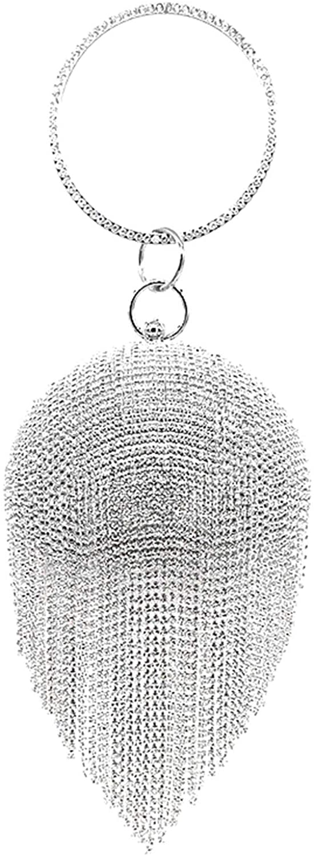 Oweisong Women's Round Ball Geometric Evening Bag Clutch Acrylic Transparent Cage Purse Vintage Banquet Shoulder Handbag