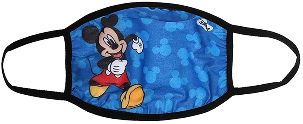 Disney Mickey Mouse Kids Face Mask | Reusable Cloth Face Mask | Washable & Breathable & Protective | Mickey Mouse, Disney Face Masks for Kids | Mickey Mouse Face Mask Blue