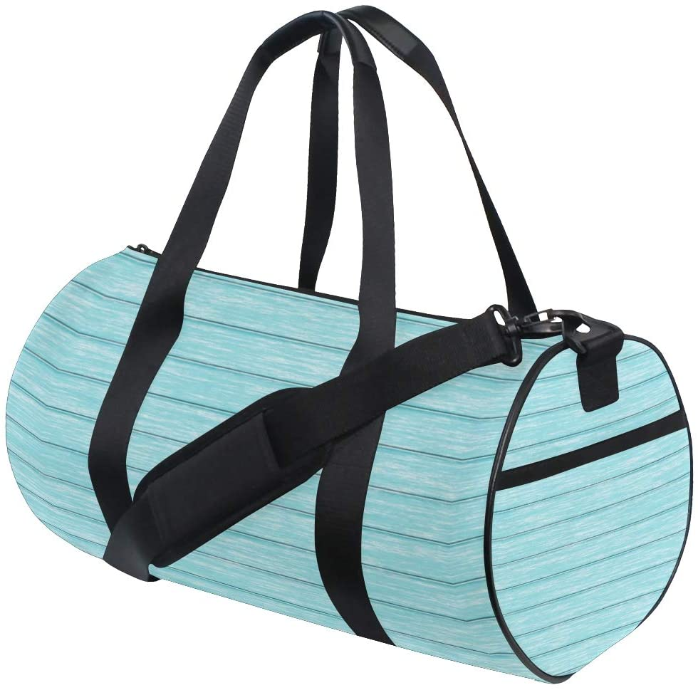 Retro Teal Turquoise Blue Travel Duffle Bag Sports Luggage with Backpack Tote Gym Bag for Man Women(910k)