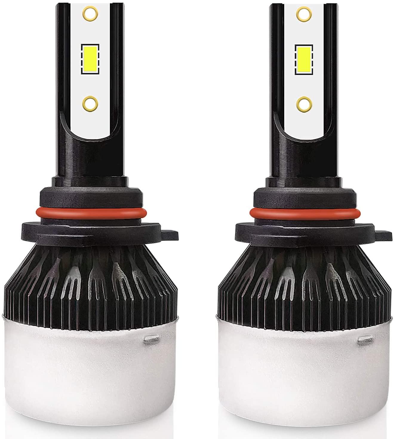 9005/9006/H1/H3/H4/H7/H11LED Headlight Blubs,24W 8000 Lumens Super Bright LED Headlights Conversion Kit 6000K Cool White IP65 Waterproof, Pack of 2 (H7)