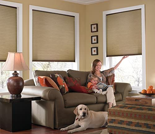 Windowsandgarden Custom Cordless Single Cell Shades, 24W x 47H, Antique Linen, Light Filtering 21-72 Inches Wide