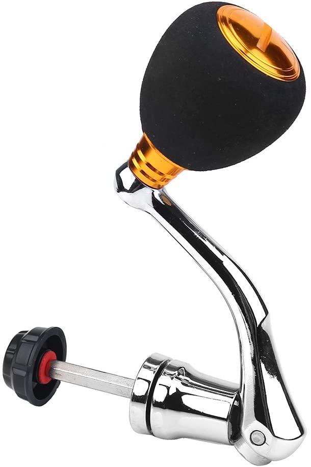 DEUKIO Fishing Reel Handle Rocker Arm Grip for Spinning Fishing Reel Baitcasting Handle Replacements for Abu Garcia Daiwa series 2000/3000/ 4000/5000/ 6000 (Gold-Medium for 2000 & 3000)