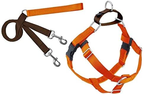 2 Hounds Design Freedom No Pull Dog Harness with Leash, Adjustable Gentle Comfortable Control for Easy Dog Walking, for Small Medium and Large Dogs, Made in USA