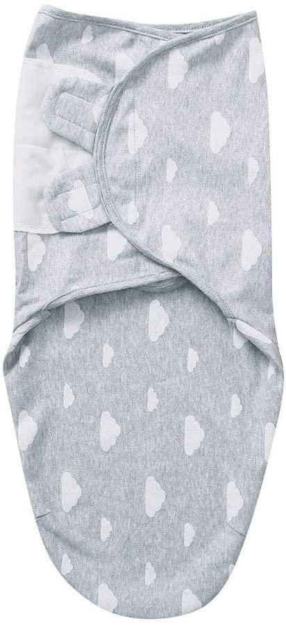 0-3M Infant Sleeping Bag Swaddle Wrapper Newborn Thin Baby Kick-Proof Quilt Baby Swaddle Wrap Newborn Blanket 0-3 Months Organic Cotton Stars Stripe Swaddle