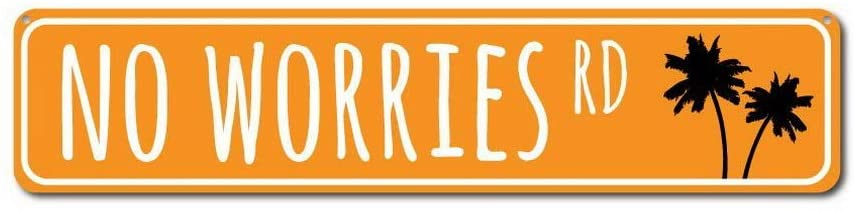 Uptell No Worries Rd Sign, Wall Pub Coffee House or Home Decor 6X16 Inches