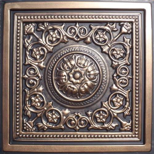 Majesty Antique Bronze Black (24x24 PVC) Ceiling Tile